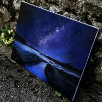 Night sky painting by Cleicha