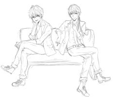 WIP Zen and Seven by FizzGerberaa