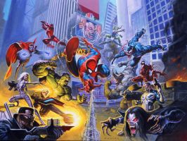 Marvel Team Up by AlexHorley