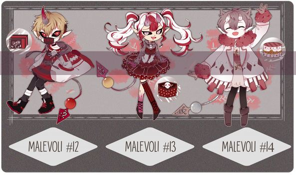 [CS] Malevoli Valentine SET PRICE BATCH 2 [CLOSED] by acidicchoco
