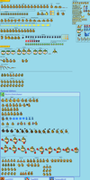 SMBHotS Bowser Jr Sprite Sheet by AsylusGoji91