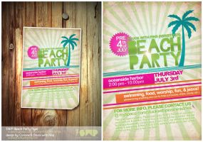 SWP Beach Party 08 flyer by stuckwithpins