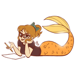 Nerdy Mermaid Artist by courtneymermaid
