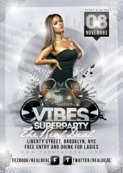 Vibes Superparty Flyer by n2n44