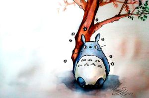 Totoro by marialatorreart