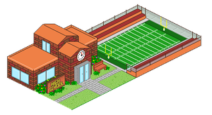 Pixel Art Town Entry by JEricaM