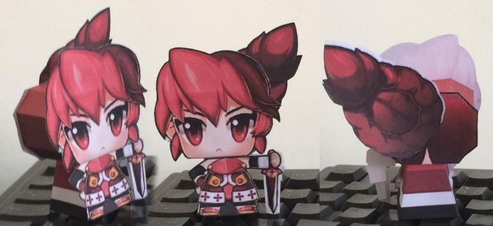 Grand Chase Elesis Papercraft by guitarseer