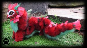 SOLD Perennial the baby rose dragon art doll! by CreaturesofNat