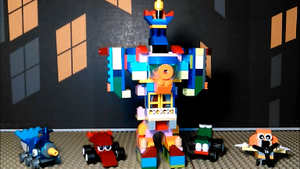 Rainbow Mecha Tom servo (and the critter cars) by sideshowOfMadness