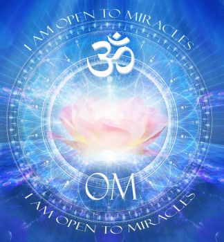 OM Open to Miracles by Audrey-Dugan-Art
