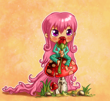 Forest Chibi by irenaart