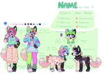 colorful cat x dog auction -AB ADDED - ends today by quardie