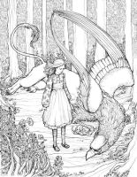 Alice and gryphon by bluefooted