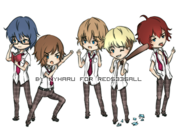 Masamoto quintuplets by nyharu