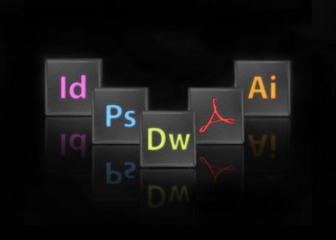 Black Adobe CS4 Icons by universumatra
