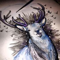 Midnight Stag by alicearmstrong