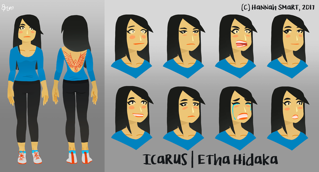 Icarus Facial Reference by SunflowerDaemon