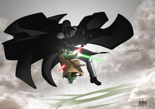 Vador vs Yoda by MichaelSchauss