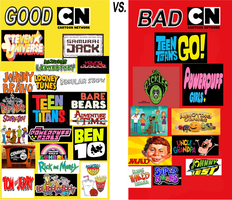 Good CN Shows vs Bad CN Shows by johnfanart101