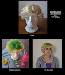 Beetlejuice customized wig tutorial by IllyDragonfly
