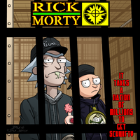 Rick And Morty Schwifty by dwaynebiddixart