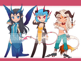 Girls with Horns - 2 [CLOSED] by aketan-adopts