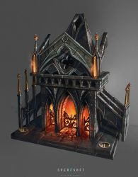 Fireplace by sheer-madness