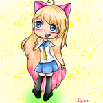 (AT) Chitoge with cat ears by NatalieGuest