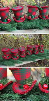 Christmas Ornament Mini Hats Commission by ImperialFiddlesticks
