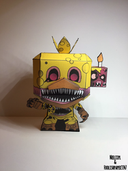 Twisted Chica Funko POP Papercraft by Neeliipl
