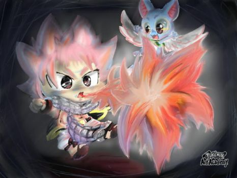 Natsu and happy by Fire03