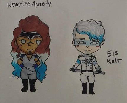 Nevarine and Eis CHIBI by ReignofEmery