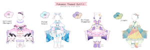 [CLOSED] Pokemon Themed Outfit Adopts | Set Price