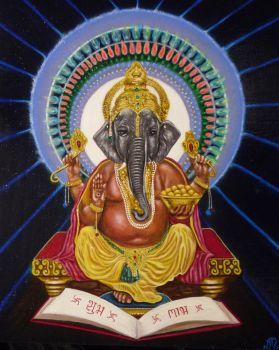 Lord Ganesha Remover of Obtacles by adriennemartino