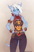 Draecember 9th - Casual by Zeon-in-a-tree
