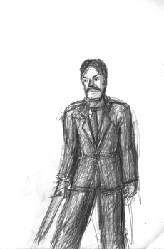 Urban Wasteland Concept Sketch - George by ForgottenDemigod