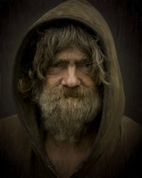 Digital Painting: Scruffy Old Man by dulceteffusion