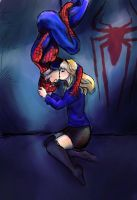 Gwen and Spidey by pebbled