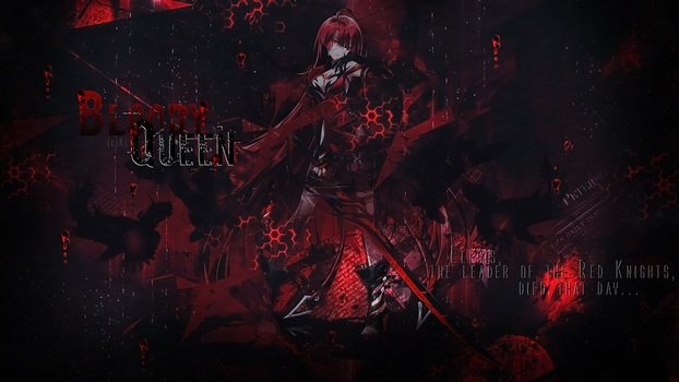[Elsword|Wallpaper] Elesis Bloody Queen by KiiaraLouTo