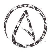 Atheist Tribal Tattoo by CreatorFromHell