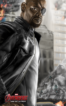 Avengers Age of Ultron, Nick Fury by billycsk