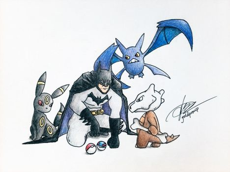 DC Comics x Pokemon (Batman) by goldprovip