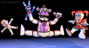 C4D|FNAFSL|Kung Funtime by YinyangGio1987