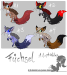 Fuechsel Adoptable Batch #1 by JB-Pawstep