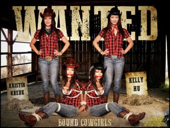 Kristin Kreuk, Kelly Hu in WANTED, BOUND COWGIRLS by lordvadersempire