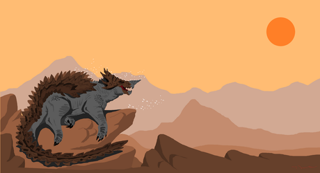 Anguirus by redtiger243