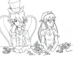 Mad Hatter And Alice by Saoto