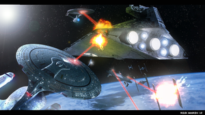 Space Battle ( Wars v.s Trek) by Misterho
