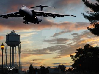 C-5 flys over Westover Air Reserve Base by wcpope