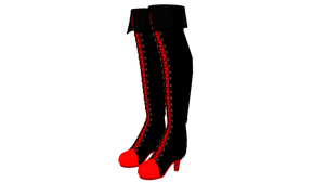 MMD Sneaker High Heel Boots DL by chickid11
